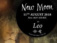 Super New Moon in Leo - 11th August 2018 + Partial Solar Eclipse