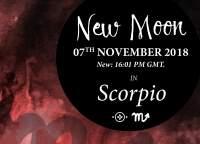 New Moon in Scorpio – 7th November 2018