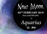 New Moon in Aquarius – 4th February 2019
